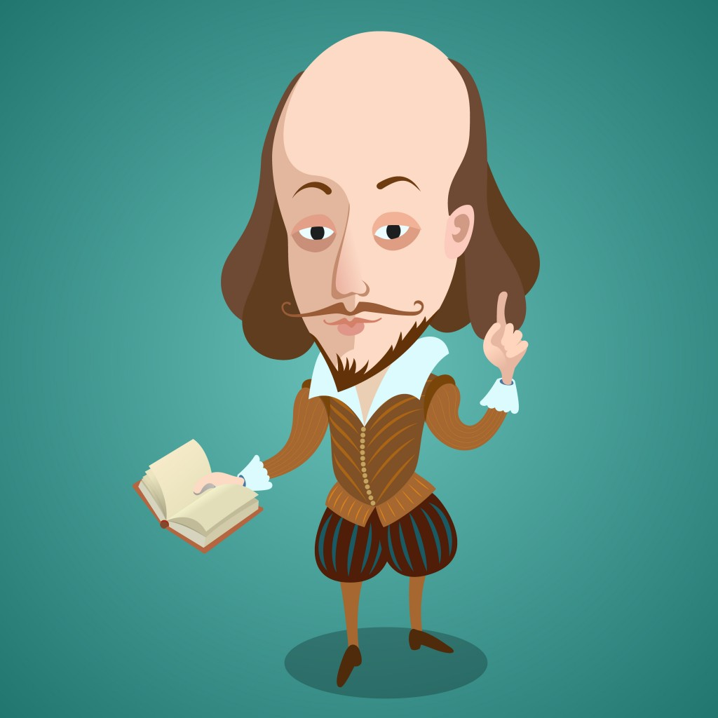 Vector illustration - Cartoon caricature portrait of William Shakespeare - Vector( Ignat Zaytsev)s