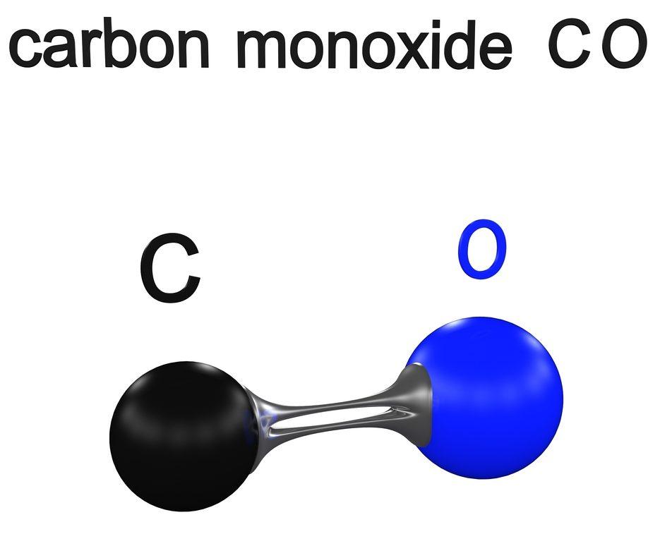molecule carbon monoxide, 3D illustration - Illustration(ch123)s