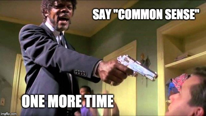 common sense meme: say common sense one more time