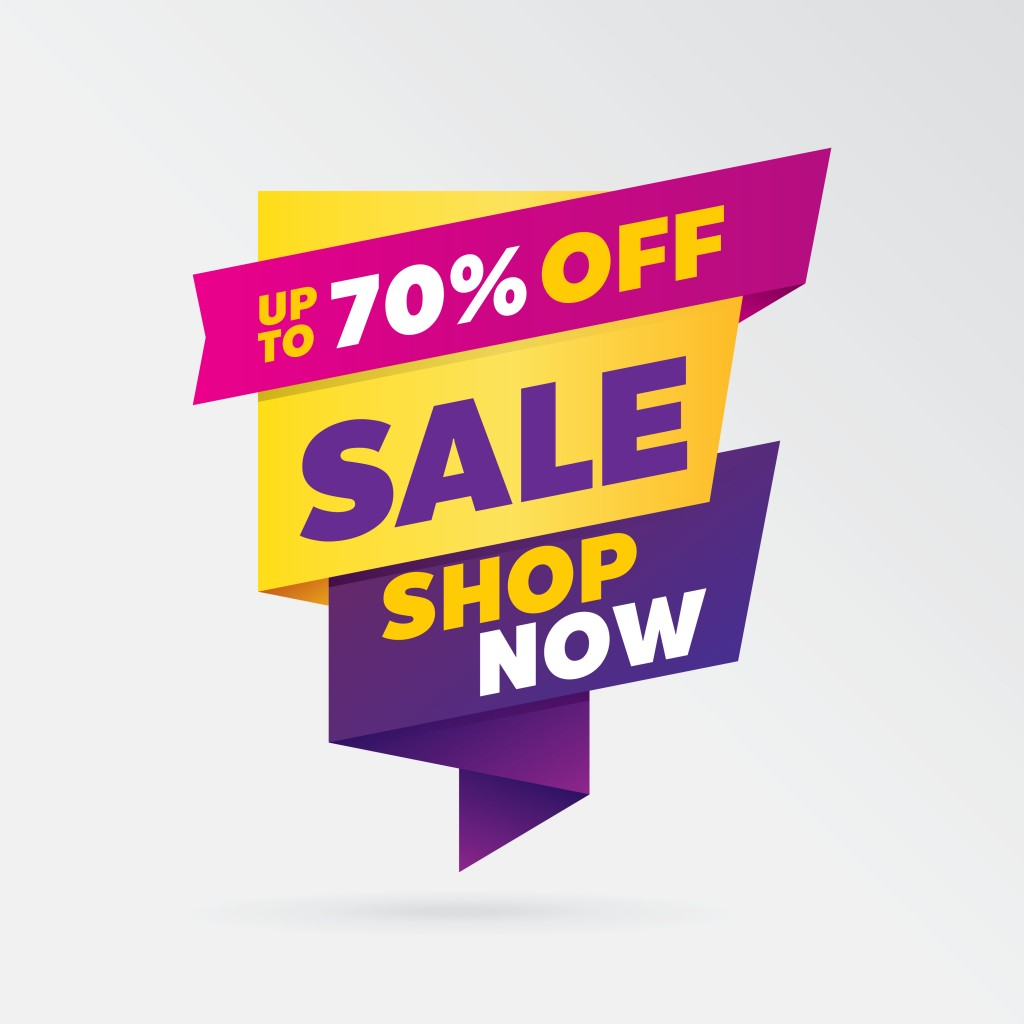vector sale banner template design, up to 70 percent off. - Vector(Tevarit)s