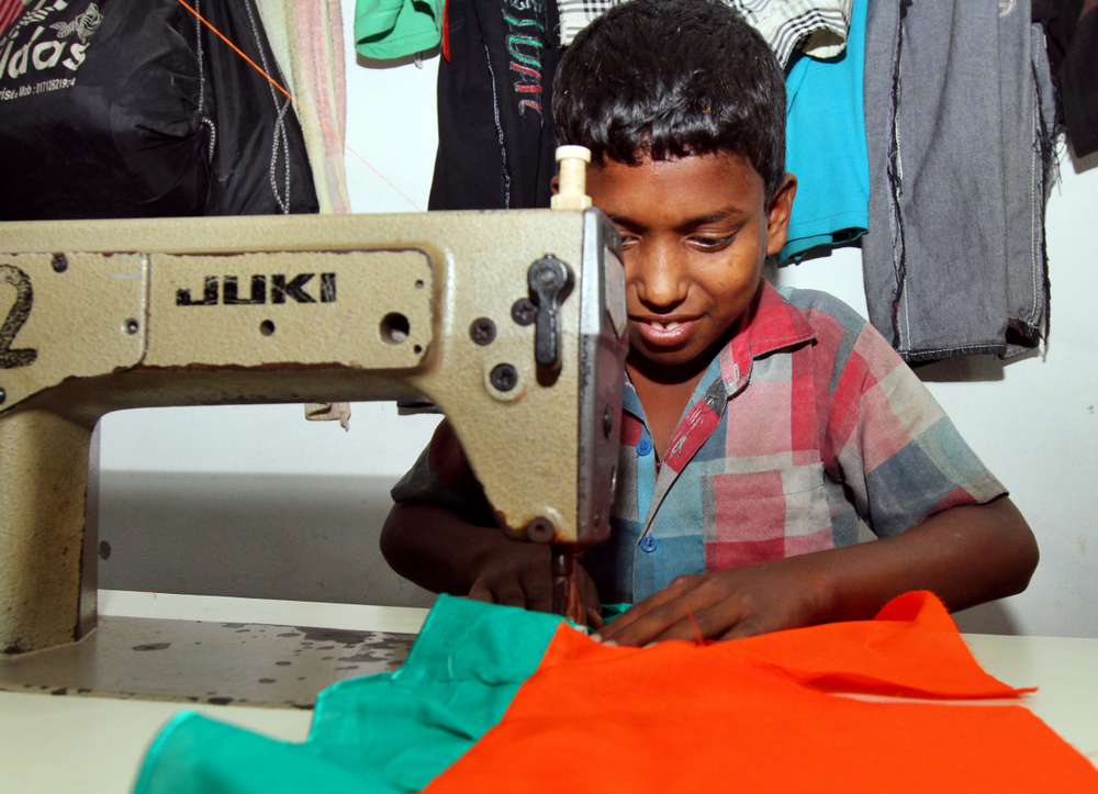 Bangladeshi Childs working in a small garment factory at Keraniganj in Dhaka( Sk Hasan Ali)S