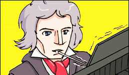 Beethoven heard his piano through bone conduction