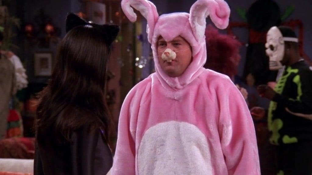 Chandler masks his childhood trauma using self-loathing humour
