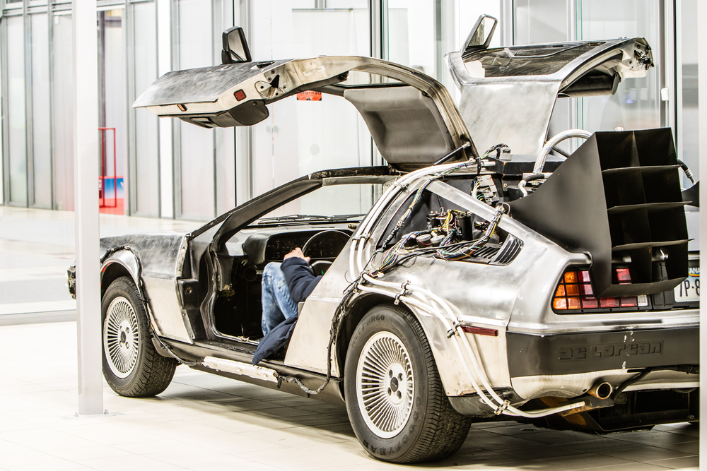Delorean DMC-12 car from 1980s movie film Back To the Future, outatime, Time Machine - Image( Grzegorz Czapski)s