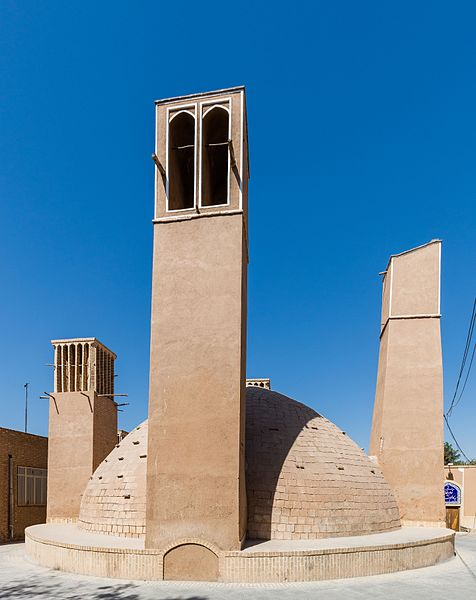 Edificios en Yazd, Irán