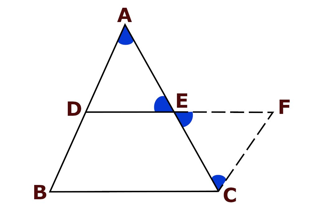 Midpoint Theorem Illustration Figure