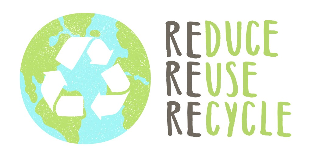 Reduce reuse recycle lettering and Earth sign(kondratya)s