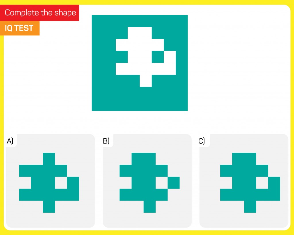 Visual intelligence activity - Find the extracted shape - Vector( Emir Kaan)s