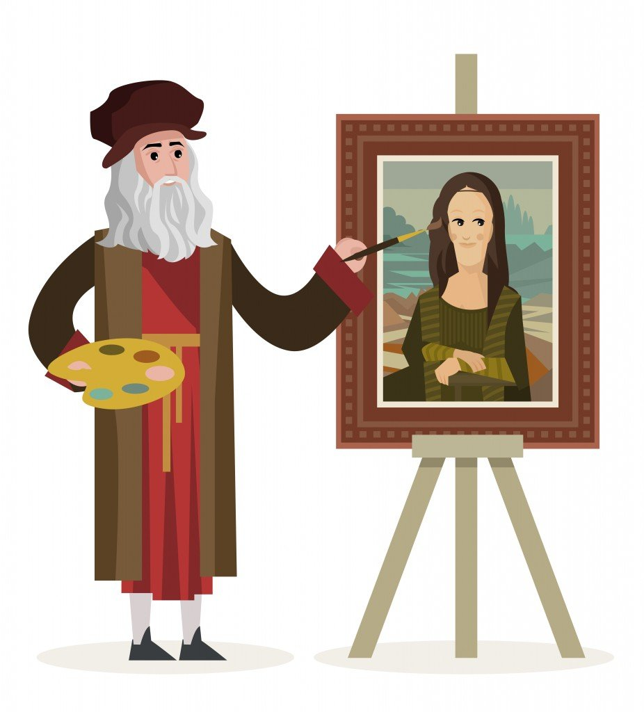 da vinci painting the mona lisa gioconda - Vector(delcarmat)S