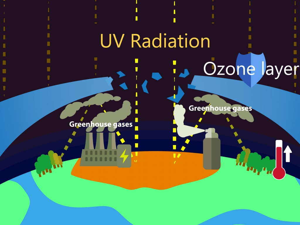 greenhouse effect and ozone depletion(Cheryt)s