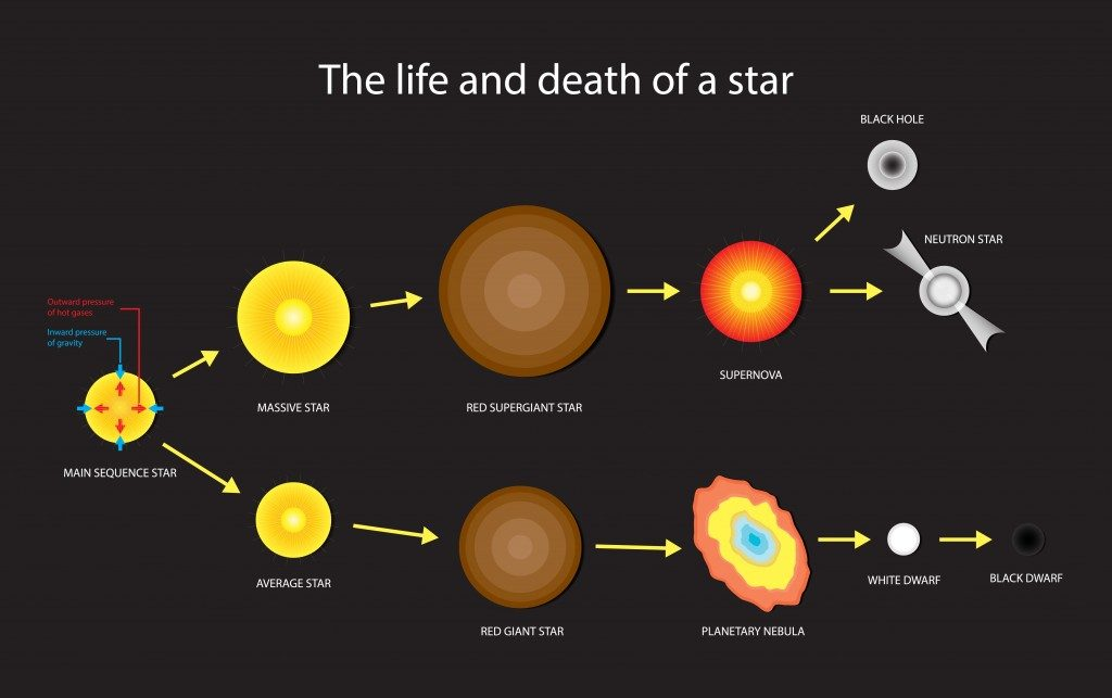 illustration of astronomy, Life and death of a star, Stellar Evolution - Vector(Nasky)s