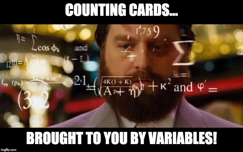 counting cards... meme