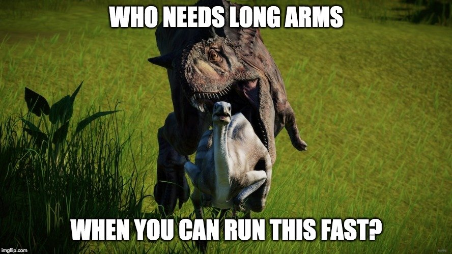 who needs long arms meme