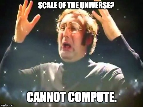 scale of the uiverse meme