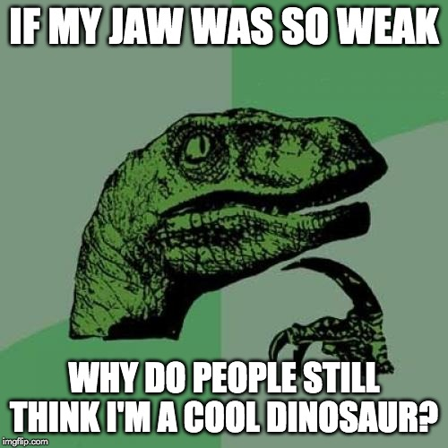 if my jaw was so weak meme