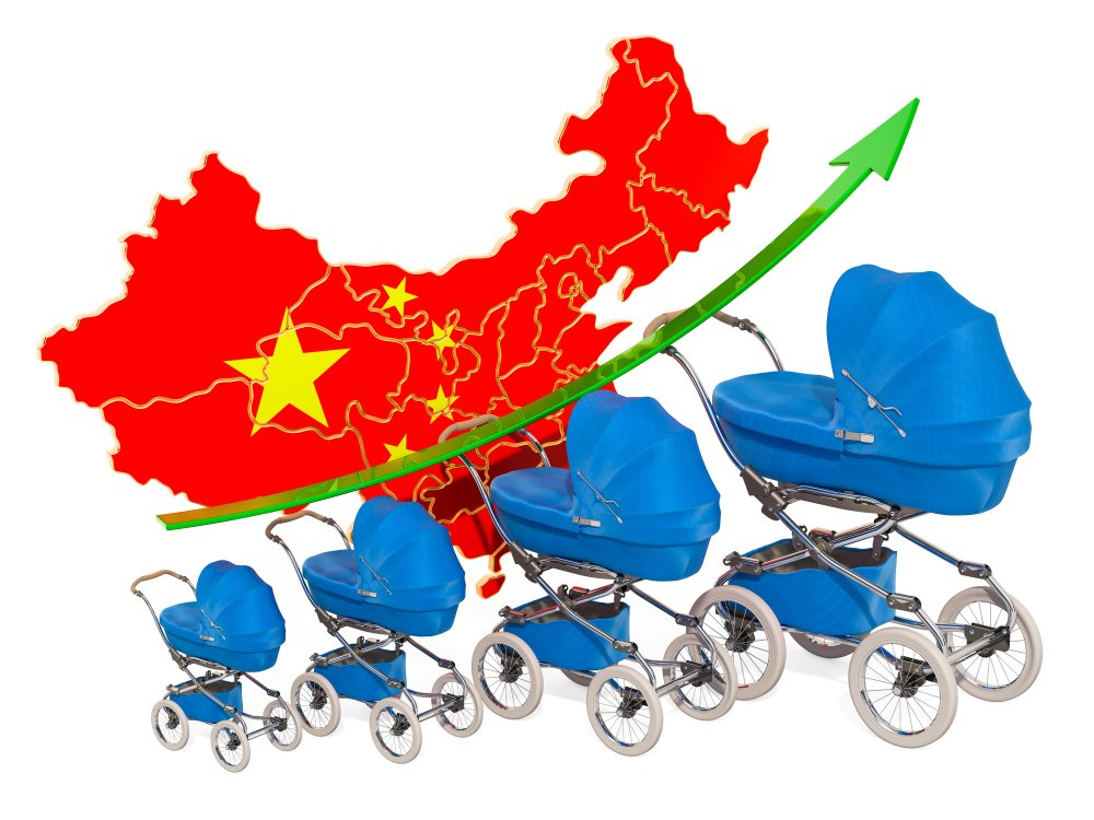 Growing birth rate in China, concept(AlexLMX)s