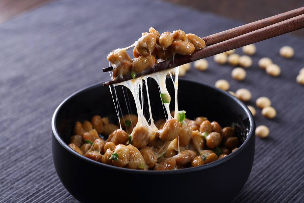 Japanese Natto on wooden table(taa22)s
