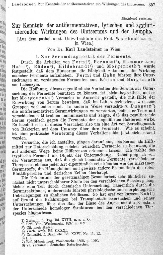 Karl Landsteiner 1868-1943