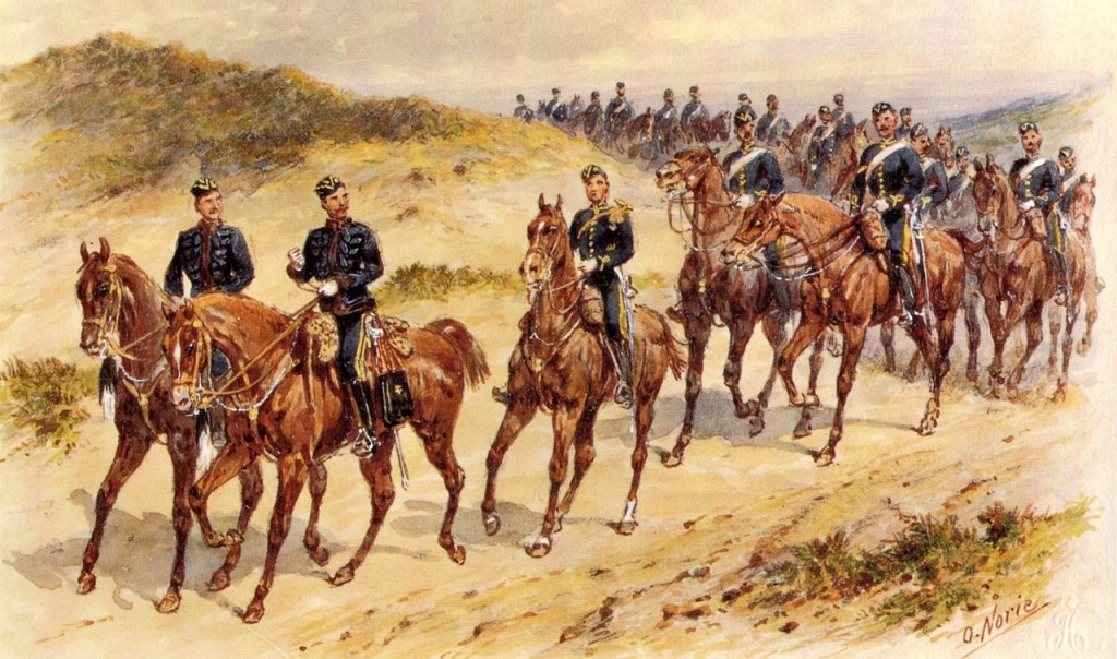 Military Cavalry Painting