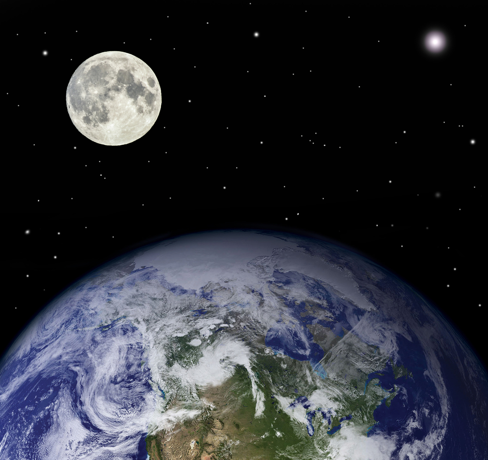 Planet earth and moon( Aleksandar Mijatovic)s