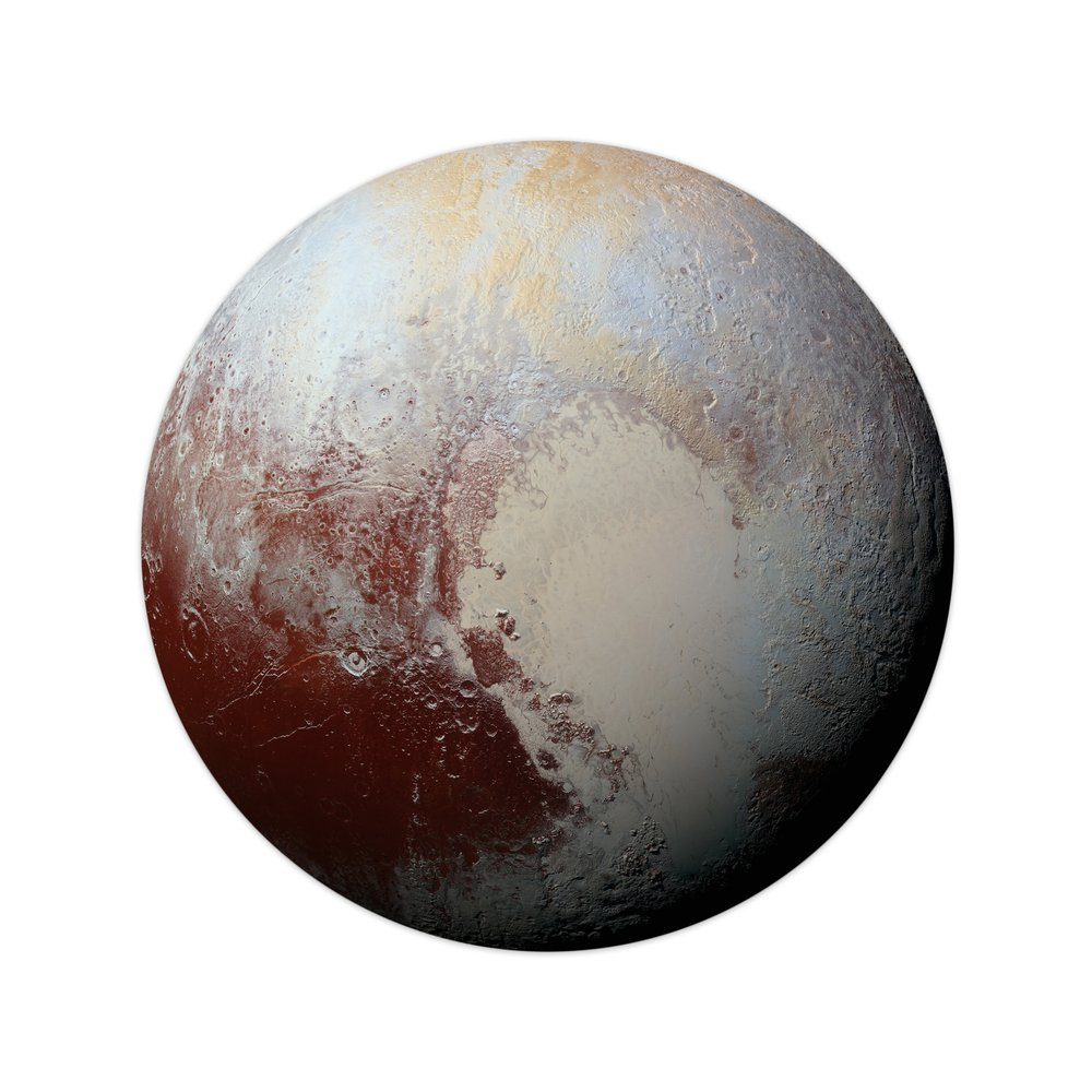 Pluto. Isolated planet on white background(NASA images)s