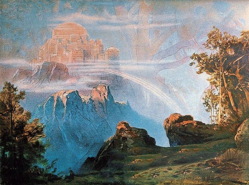 Walhalla (1896) by Max Brückner