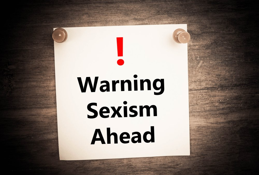 a warning of sexism ahead concept on note paper(chattanongzen)s