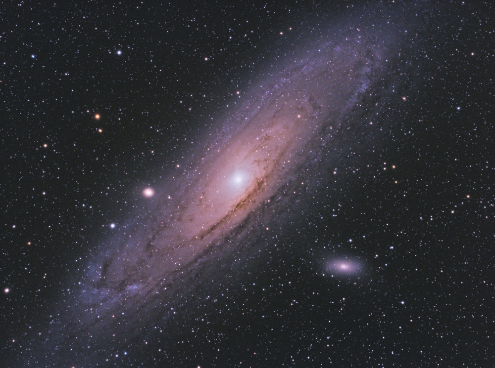 galaxy or also Andromeda in same constellation, with many stars as background in the deep space( Cristian Cestaro)s