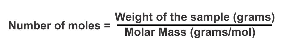 no of moles formula