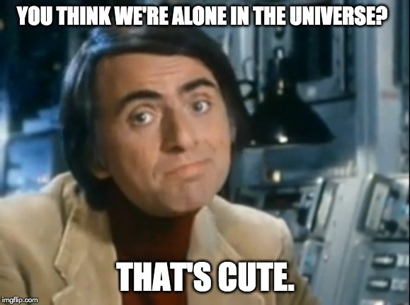 you think we're alone in the universe meme