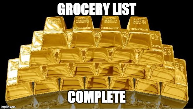 grocery list meme