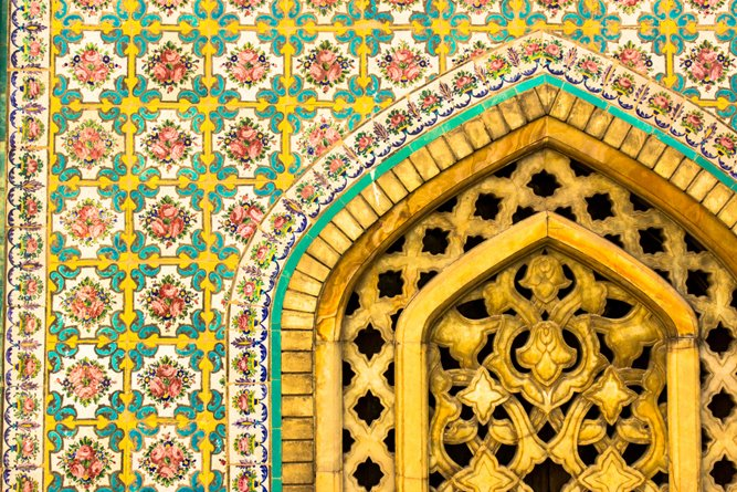 Golestan Palace in Tehran, Iran. Tiles and doors details(Livre Partida)S