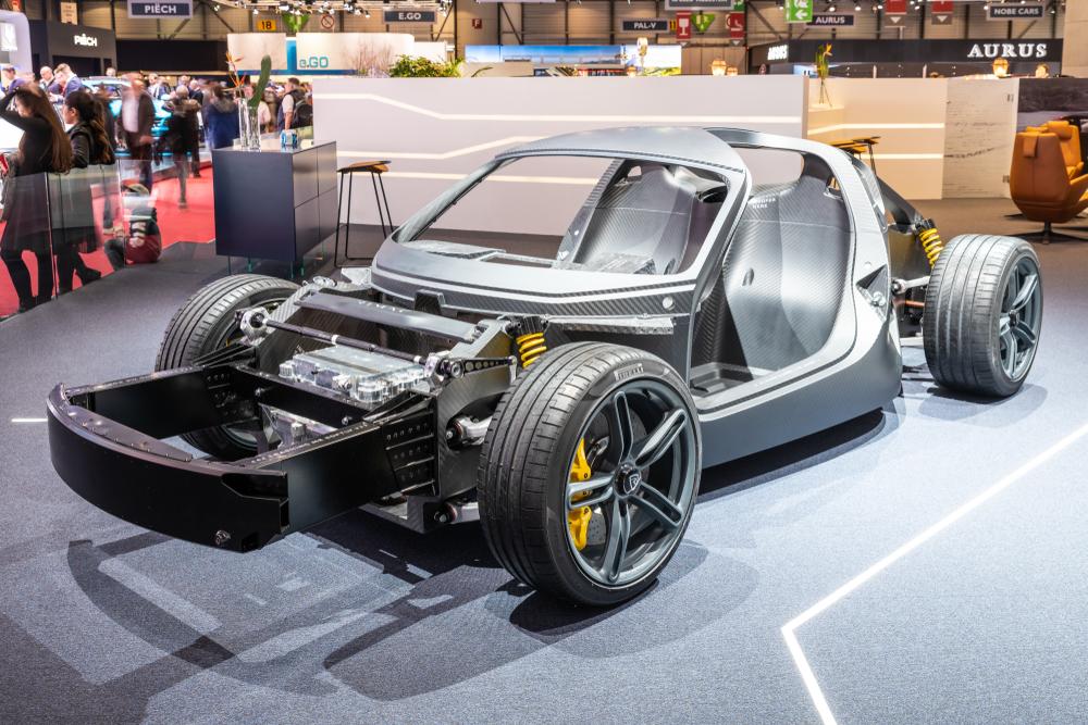 Rimac's carbon fibre monocoque at the Geneva International Motor Show 2019( Kaukola Photography)s