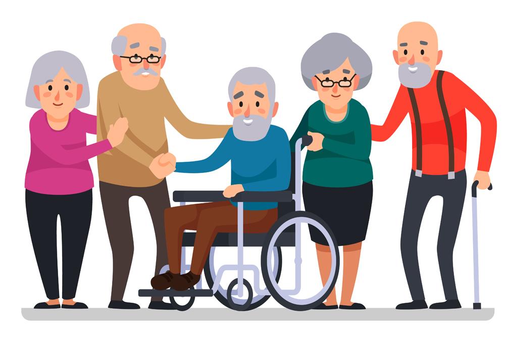 disability family cartoon vector illustration(Tartila)s