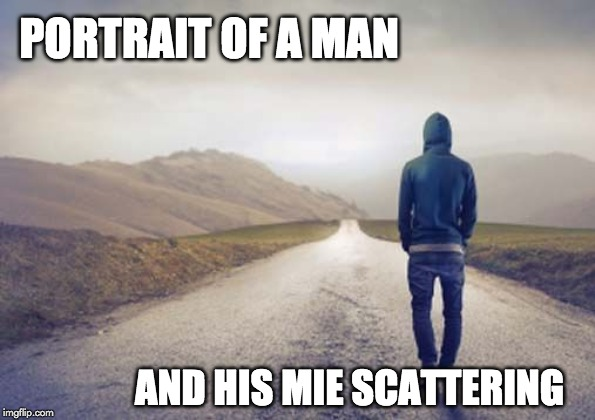portrait of a man and his mie scattering meme
