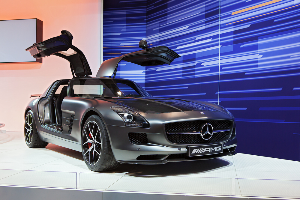 A Mercedes-Benz SLS AMG on display(Darren Brode)s