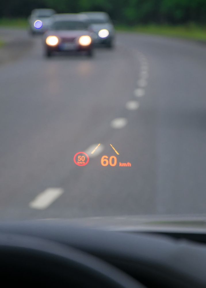 Car HUD. Modern car Head-up display(Dmitri Ma)S