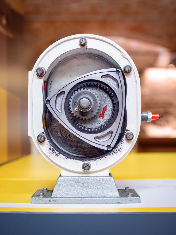 Internal combustion Wankel engine, rotor cross section(Roman Belogorodov)s