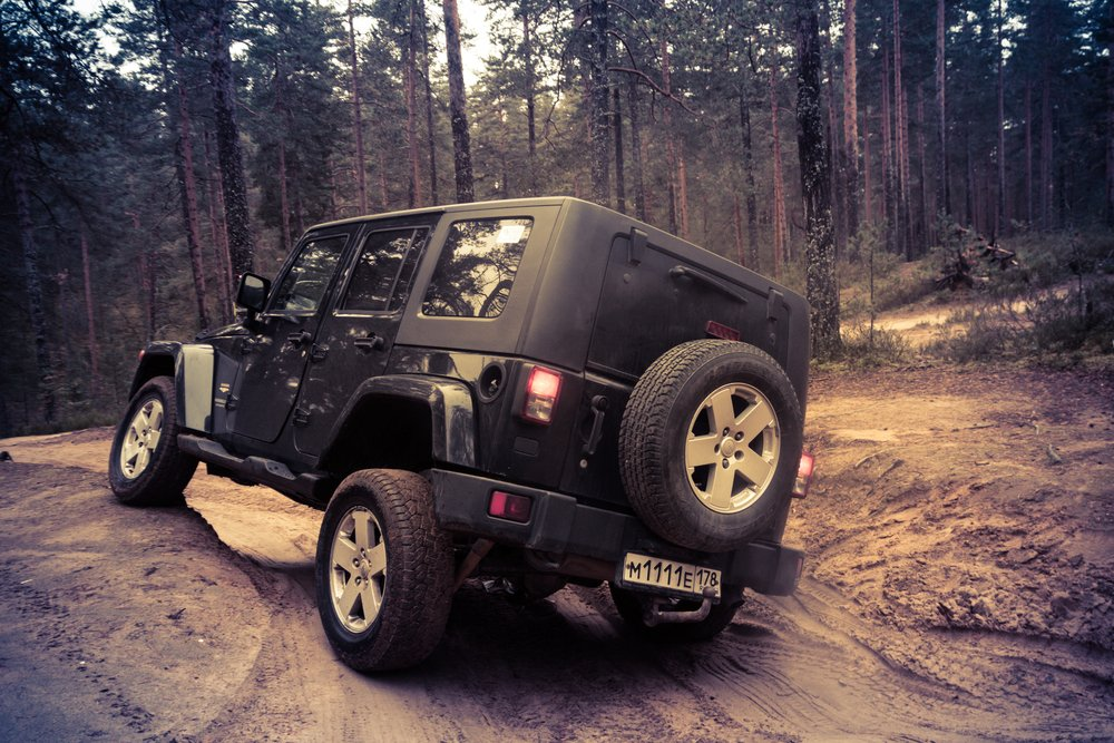 Jeep Wrangler is a compact four wheel drive off road and sport utility vehicle( Pavel Vaschenkov)s