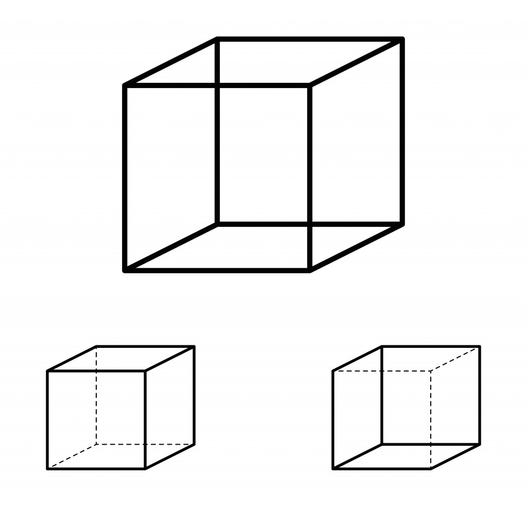 Necker cube optical illusion(Peter Hermes Furian)s