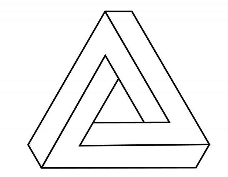Penrose triangle line icon(smx12)s