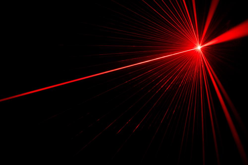 Red laser beam light effect on black background(donatas1205)s