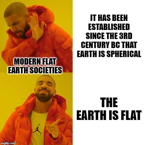 the earth is flat meme