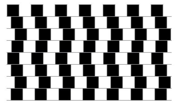 optical illusion parallel lines(diskoVisnja)s