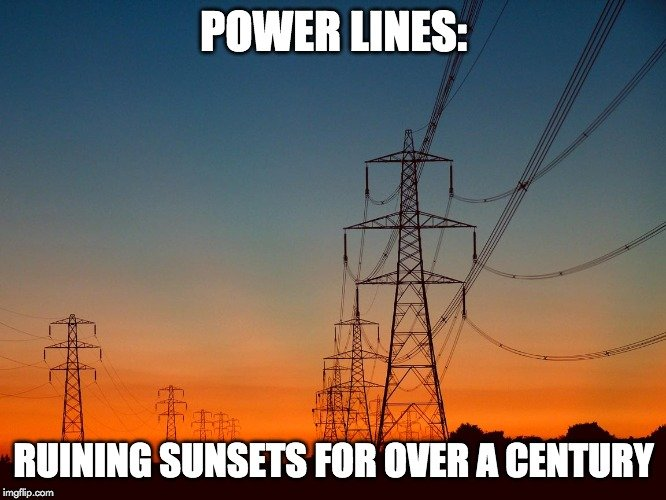 power lines meme