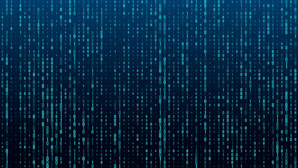 A stream of binary matrix code on the screen(Pogorelova Olga)s