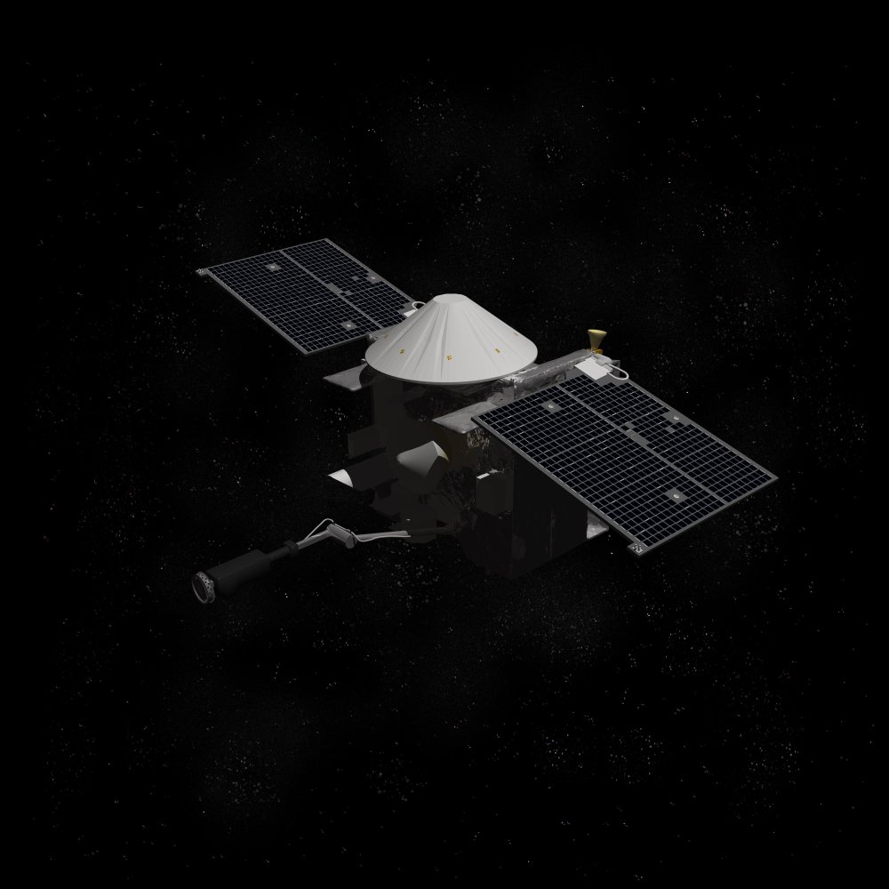 Artist depiction of the OSIRIS REx space probe(Raymond Cassel)s