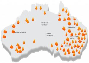 Australia bush fire and map(M. A. KAYUM)s