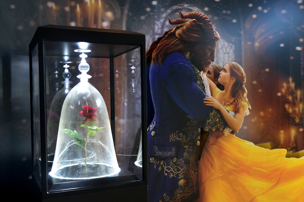Beautiful Standee of Beauty and the Beast at the theater(Sarunyu L)S