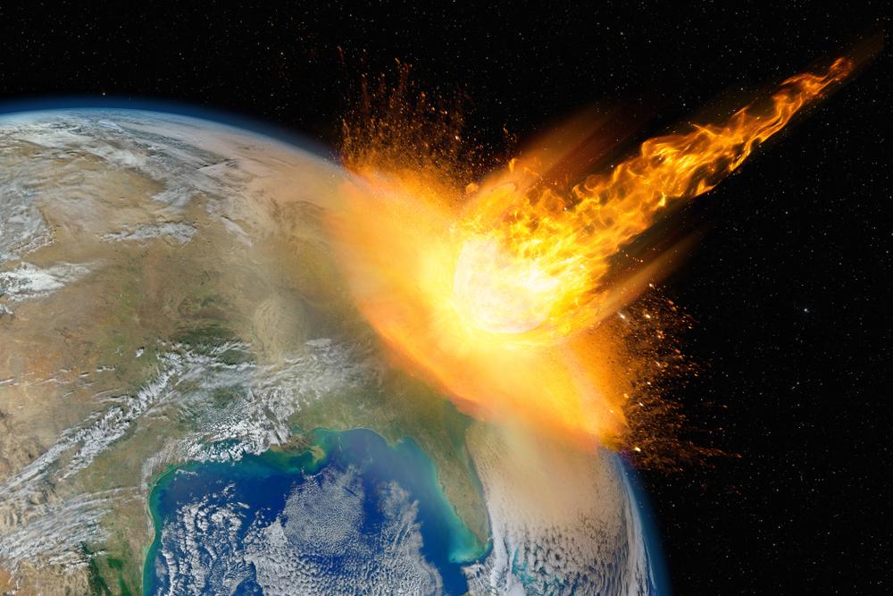 Dangerous asteroid hits planet Earth(Lukasz Pawel Szczepanski)s